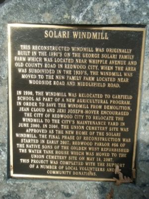 Solari Windmill Marker image. Click for full size.