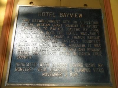 Hotel Bayview Marker image. Click for full size.