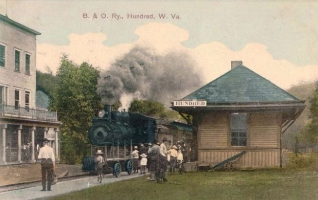 B. & O. Ry., Hundred, W.V. image. Click for full size.