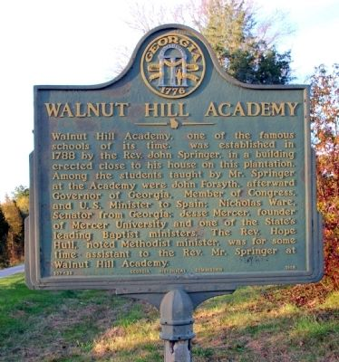 Walnut Hill Academy Marker image. Click for full size.