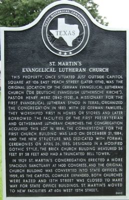 St. Martin's Evangelical Lutheran Church Marker image. Click for full size.
