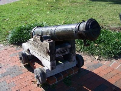 Historic Cannon used in defense of St. Michaels. image. Click for full size.