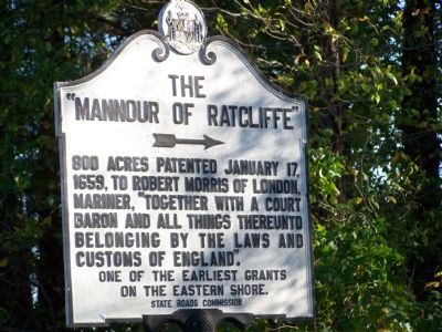 "The ""Mannour of Ratcliffe"" Marker image. Click for full size."