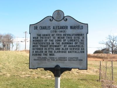 Dr. Charles Alexander Warfield Marker image. Click for full size.