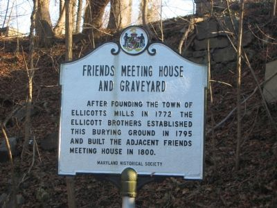 Friends Meeting House and Graveyard Marker image. Click for full size.