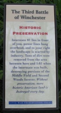 Historic Preservation Trail Sign image. Click for full size.