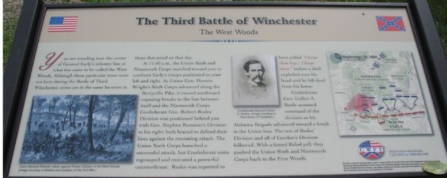 The Third Battle of Winchester Marker image. Click for full size.