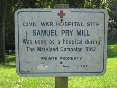 Civil War Hospital Site Marker image. Click for full size.
