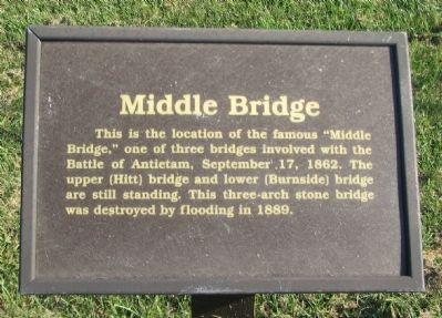 Middle Bridge Marker image. Click for full size.