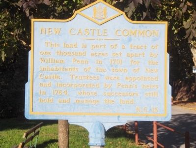 New Castle Common Marker image. Click for full size.