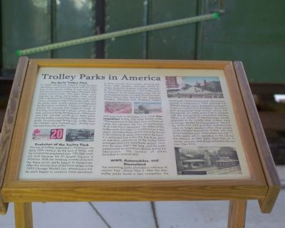 Trolley Parks In America Marker image. Click for full size.