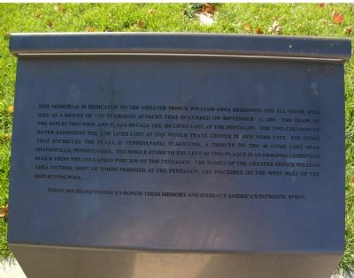 9/11 Liberty Memorial Marker image. Click for full size.
