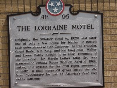 The Lorraine Motel Marker image. Click for full size.