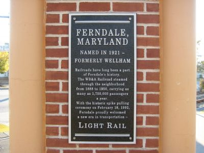 Ferndale, Maryland Marker image. Click for full size.
