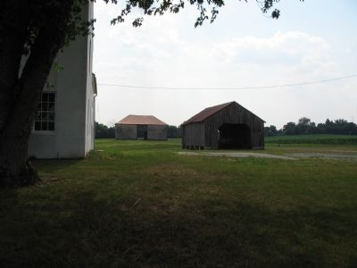 Corn Crib and Stone Barn image. Click for full size.