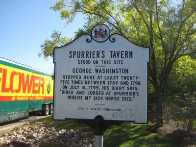 Spurrier's Tavern Stood on this Site Marker image. Click for full size.