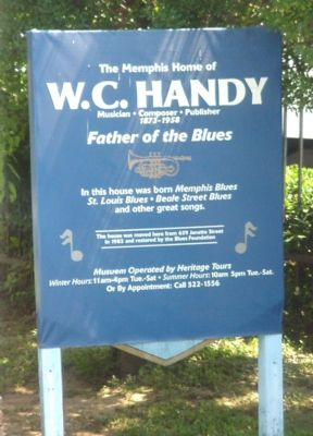 The Memphis Home of W.C. Handy Marker image. Click for full size.