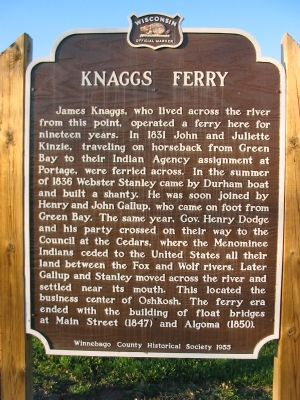 Knaggs Ferry Marker image. Click for full size.
