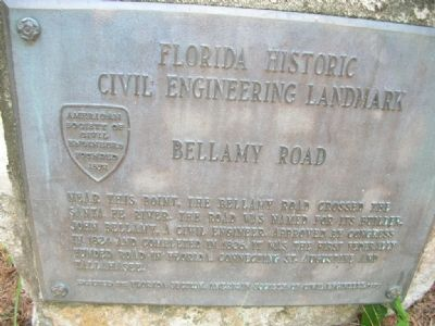 Bellamy Road Marker image. Click for full size.