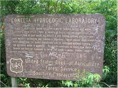 Coweeta Hydrologic Laboratory Marker image. Click for full size.