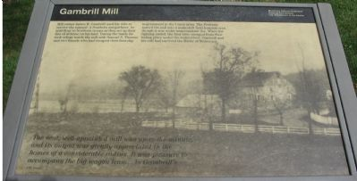Gambrill Mill Marker image. Click for full size.