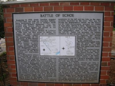 Battle of Echoe Marker image. Click for full size.
