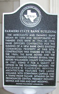 Farmers State Bank Building Marker image. Click for full size.