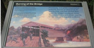 Burning of the Bridge Marker image. Click for full size.
