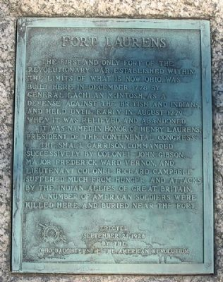 Fort Laurens Marker image. Click for full size.