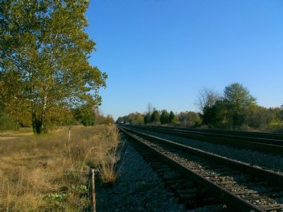 Looking South down the railroad tracks toward Guinea Station. image. Click for full size.