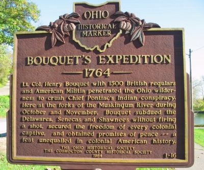 Bouquet's Expedition 1764 Marker image. Click for full size.