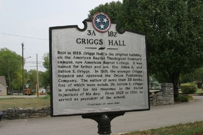 Griggs Hall Marker image. Click for full size.