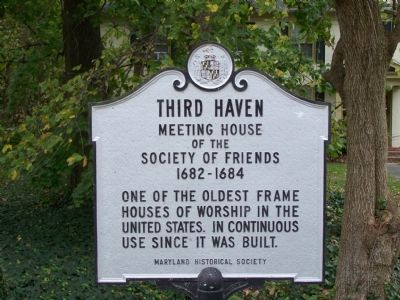 Third Haven Marker image. Click for full size.