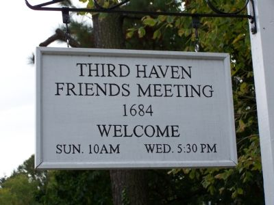 Meeting House Sign image. Click for full size.