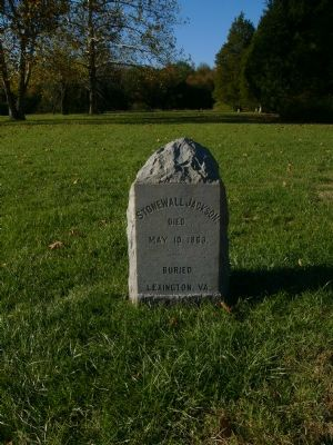 Stone Marker identifying the site of Stonewall Jackson's death image. Click for full size.