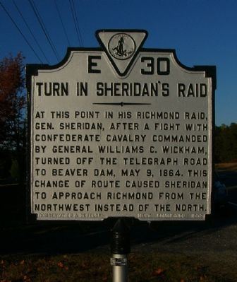 Turn in Sheridan's Raid Marker image. Click for full size.
