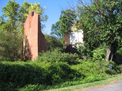 Ruins of the Mill Itself Stand beside the Road image. Click for full size.