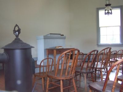 Interior of Meeting House image. Click for full size.