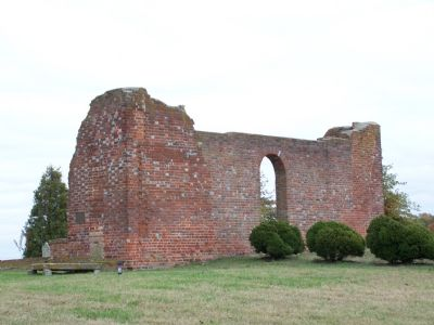 Ruins of Old White Marsh Church image. Click for full size.
