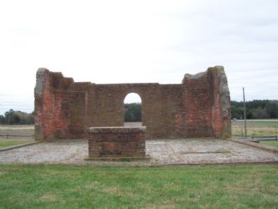 View of church ruins from the rear. image. Click for full size.