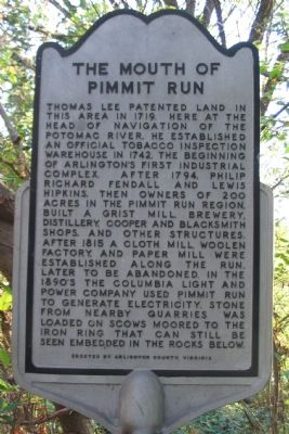 The Mouth of Pimmit Run Marker image. Click for full size.