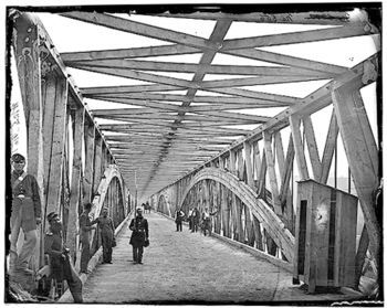 Chain Bridge During the Civil War image. Click for full size.
