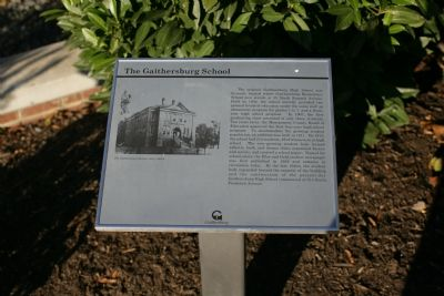 The Gaithersburg School marker image. Click for full size.
