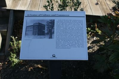 A Center of Culture and Commerce marker image. Click for full size.