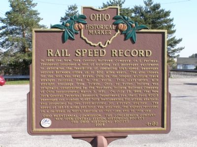 Rail Speed Record Marker image. Click for full size.