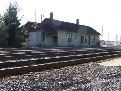 The old Bryan railroad station (across the tracks) image. Click for full size.