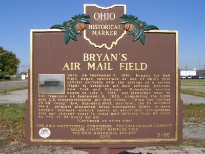 Bryan's Air Mail Field Marker image. Click for full size.
