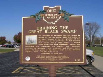 Draining the Great Black Swamp Marker image. Click for full size.