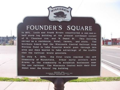 Founder's Square Marker image. Click for full size.