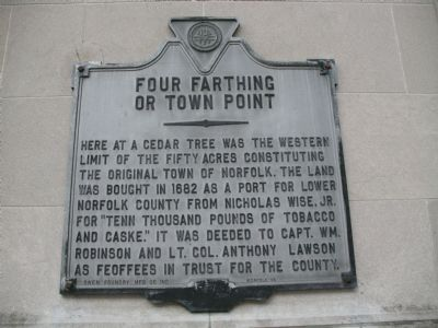 Four Farthing or Town Point Marker image. Click for full size.
